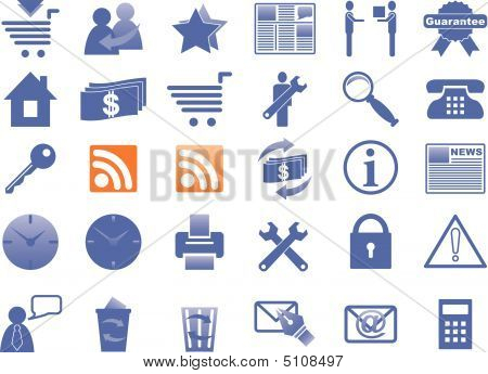 Icons For Internet And Website.eps