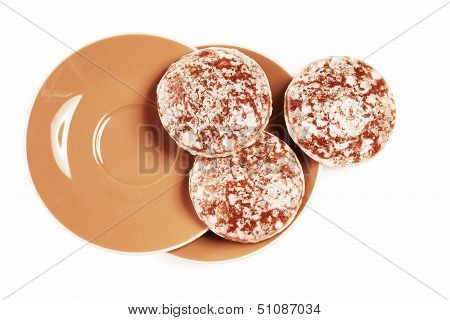 Round Traditional German Christmas Lebkuchen Gingerbreads