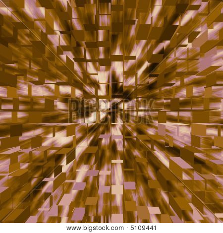 An abstract background of flying three dimensional cubes poster