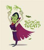 Halloween Vampire. Vector character.