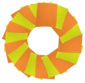 yellow and orange napkins circle isolated over white background poster