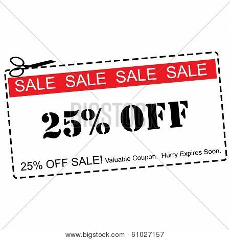 Twenty Five Percent Off Sale Coupon
