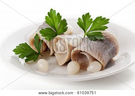 Herrings With Small Onions