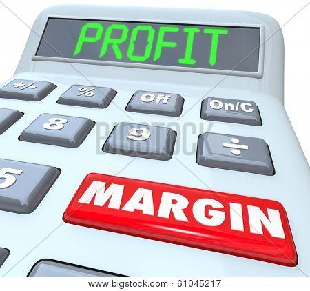 Profit Margin Words Calculator Increase Net Earnings