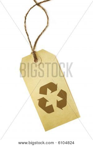 Recycling Symbol On Label