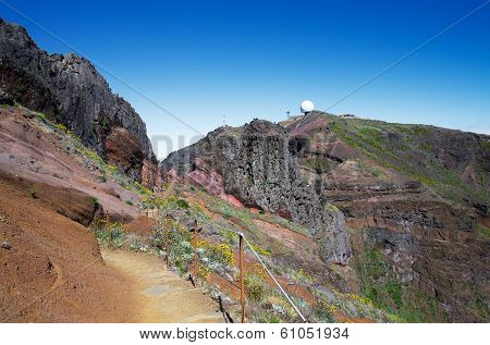 Hiking Trail To Pico Do Areeiro, Madeira