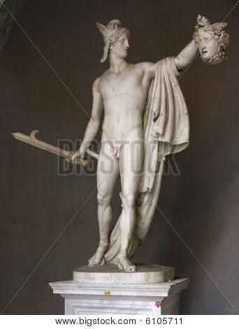 A statue inside the Musei Vaticani in Rome