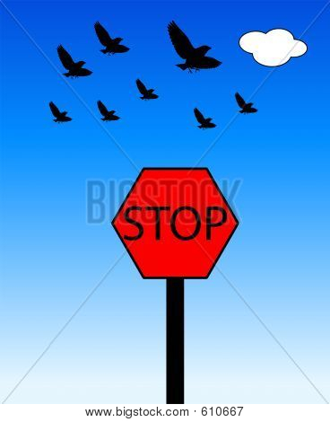 A symbol for Stop. poster