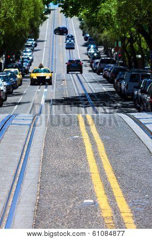 San Francisco Hyde Street Nob Hill in California USA