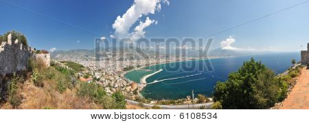 View To Alanya From High Mountain