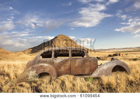 Historic Car Bullet Holes