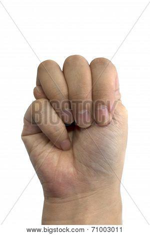 Sign language M