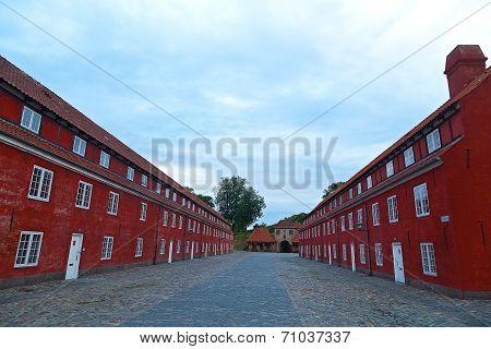 Army barracks at Kastellet Citadel in Copenhagen