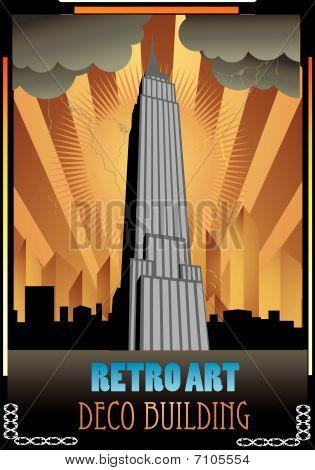retro building vector ilustration
