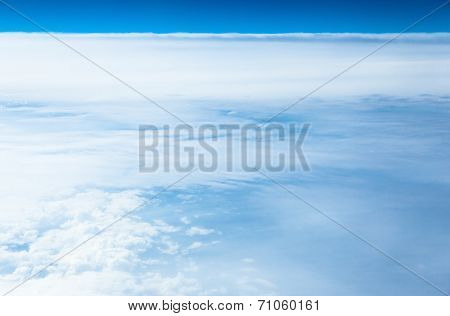Sea of ??clouds, aerial photography