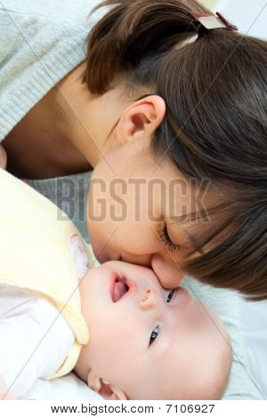 Happy Family - Mother And Baby