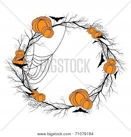Vector Halloween wreath
