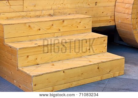 the wood stair