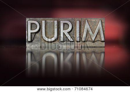 Purim Letterpress