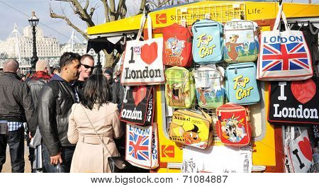Souvenirs shop in London