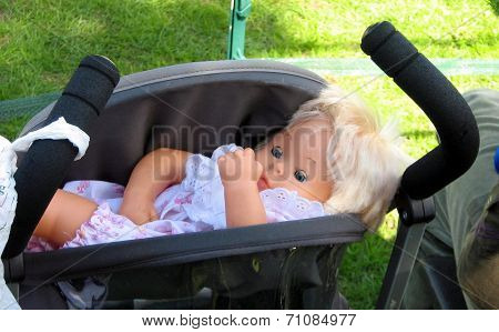 doll in a buggy