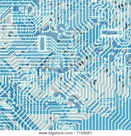 Circuit Board Light Blue Hi-tech Texture