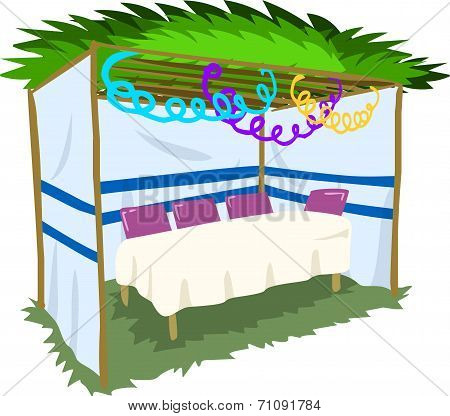 Sukkah For Sukkot With Table 2