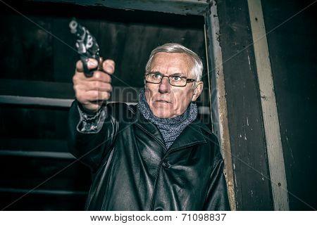 Dangerous Senior With A Gun
