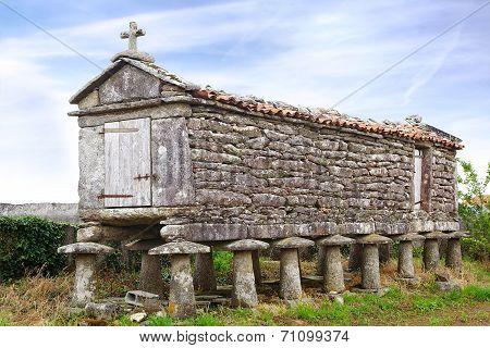 The Ancient Horreo (granary). Galicia, Spain
