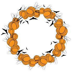 Vector Halloween wreath 4