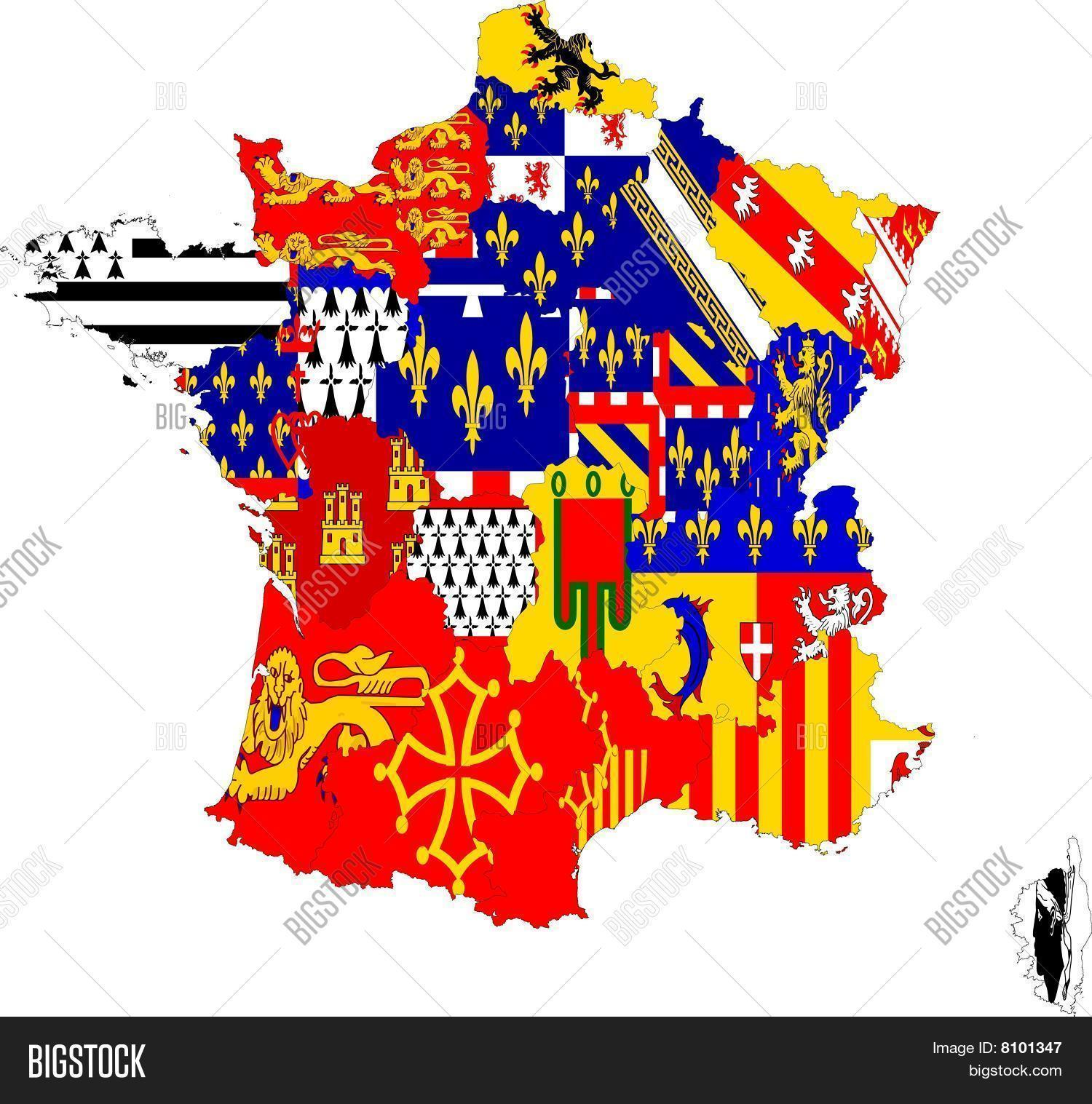 France Map With Regions.France Map Regions Image Photo Free Trial Bigstock