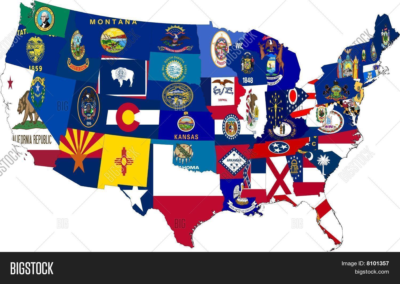 America Map 48 States Image & Photo (Free Trial) | Bigstock