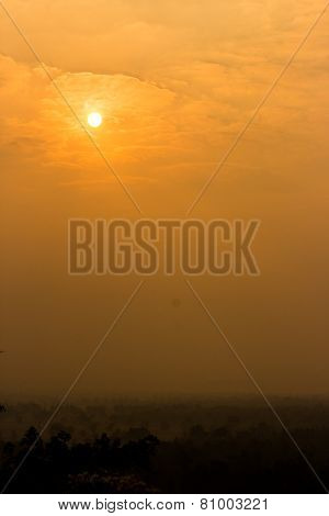 beautiful sunset. It is a nuture background