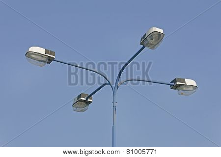Street Lamppost With Four Arms