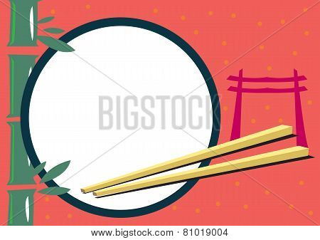 Japanese Themed Frame for Food and Travel Concepts