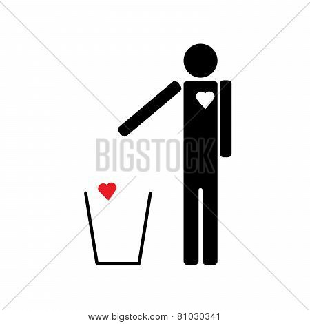 Man Throws The Trash To Your Heart