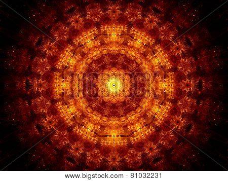 Glowing Fiery Oriental Ornament