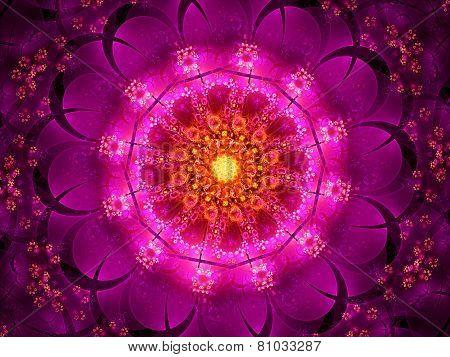 Purple Oriental Fractal