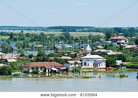 Disastrous floods hit Romania  in Tulcea, Romania