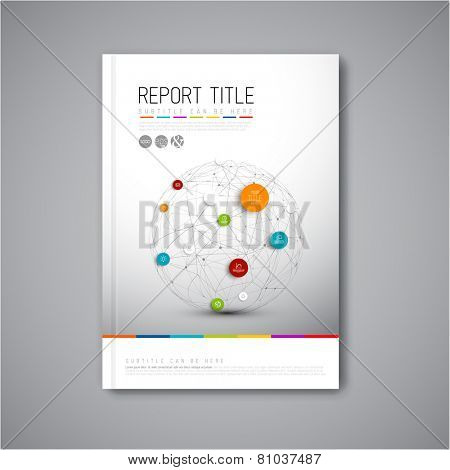 Modern Vector abstract brochure, report or flyer design template