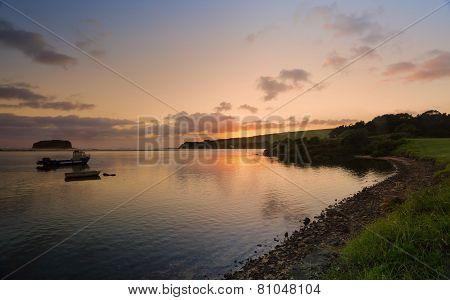 Sunrise On The Minnamurra River Illawarra Nsw Australia
