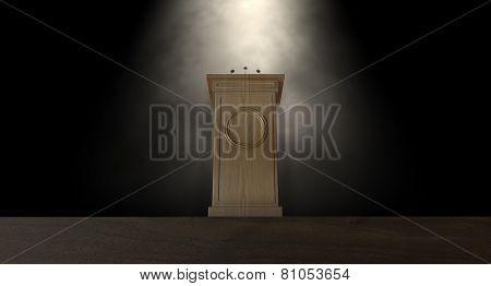 Spotlit Press Podium