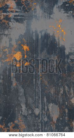 A high detail old scratched grungy metal texture with rust stains poster