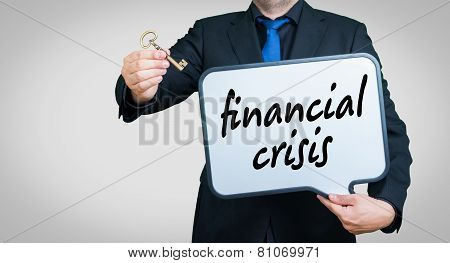 Financial Crisis Businessman