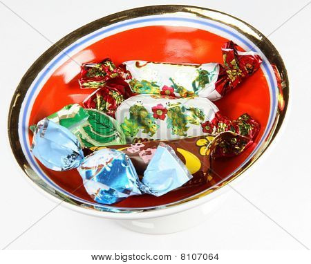 Set Of Candies In Sweet Wrapper