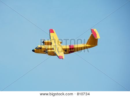 DHC-5 propeller airplane