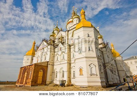 Temple Of Pochayiv Lavra During Construction