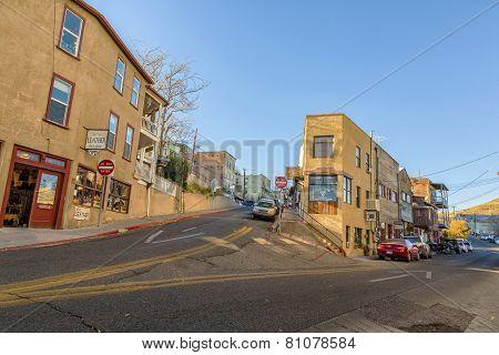 Corner Street In Jerome Arizona Usa