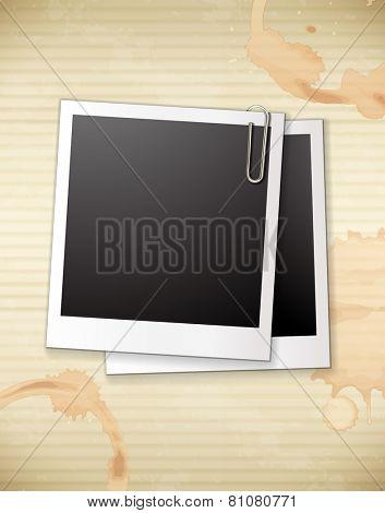 Empty photo frames