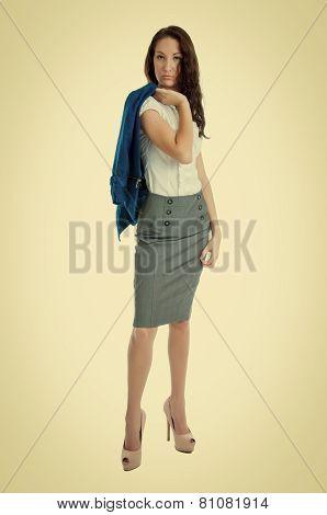 Pretty Brunette Businesswoman